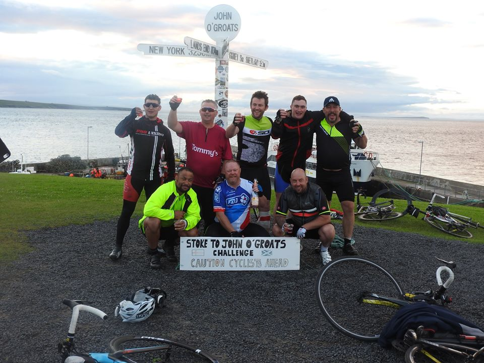 ALSAGER RESIDENT CYCLES FROM STOKE ON TRENT TO JOHN O'GROATS TO RAISE MONEY FOR CHARITY