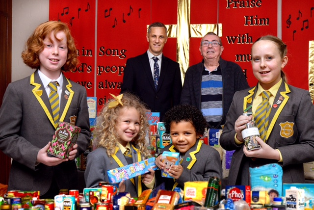 Food bank boost from local legend