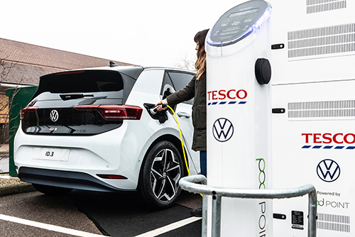 Tesco installs electric charging point in 200th store