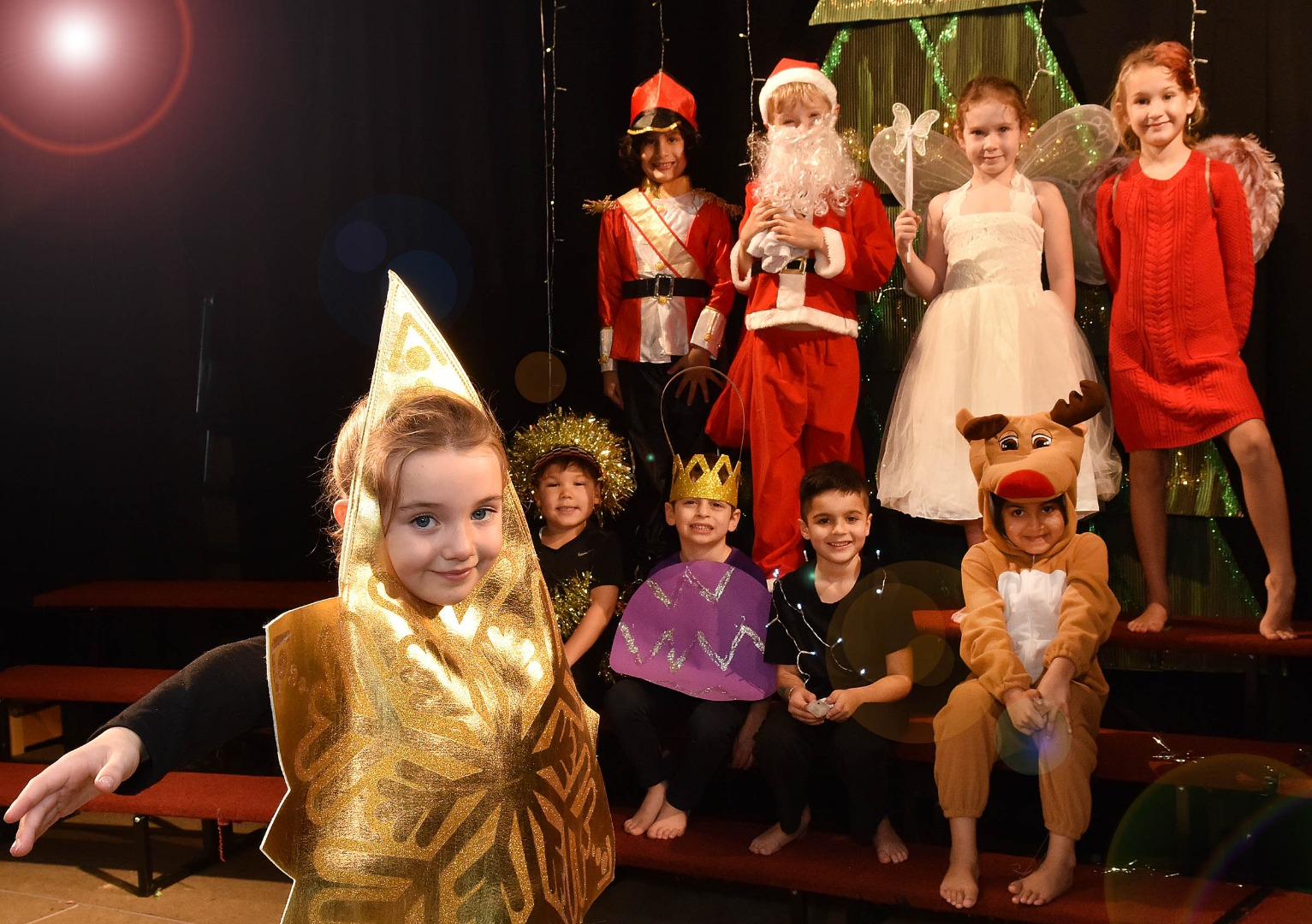 STAR IS THE TOP DECORATION IN GREENBANK NATIVITY