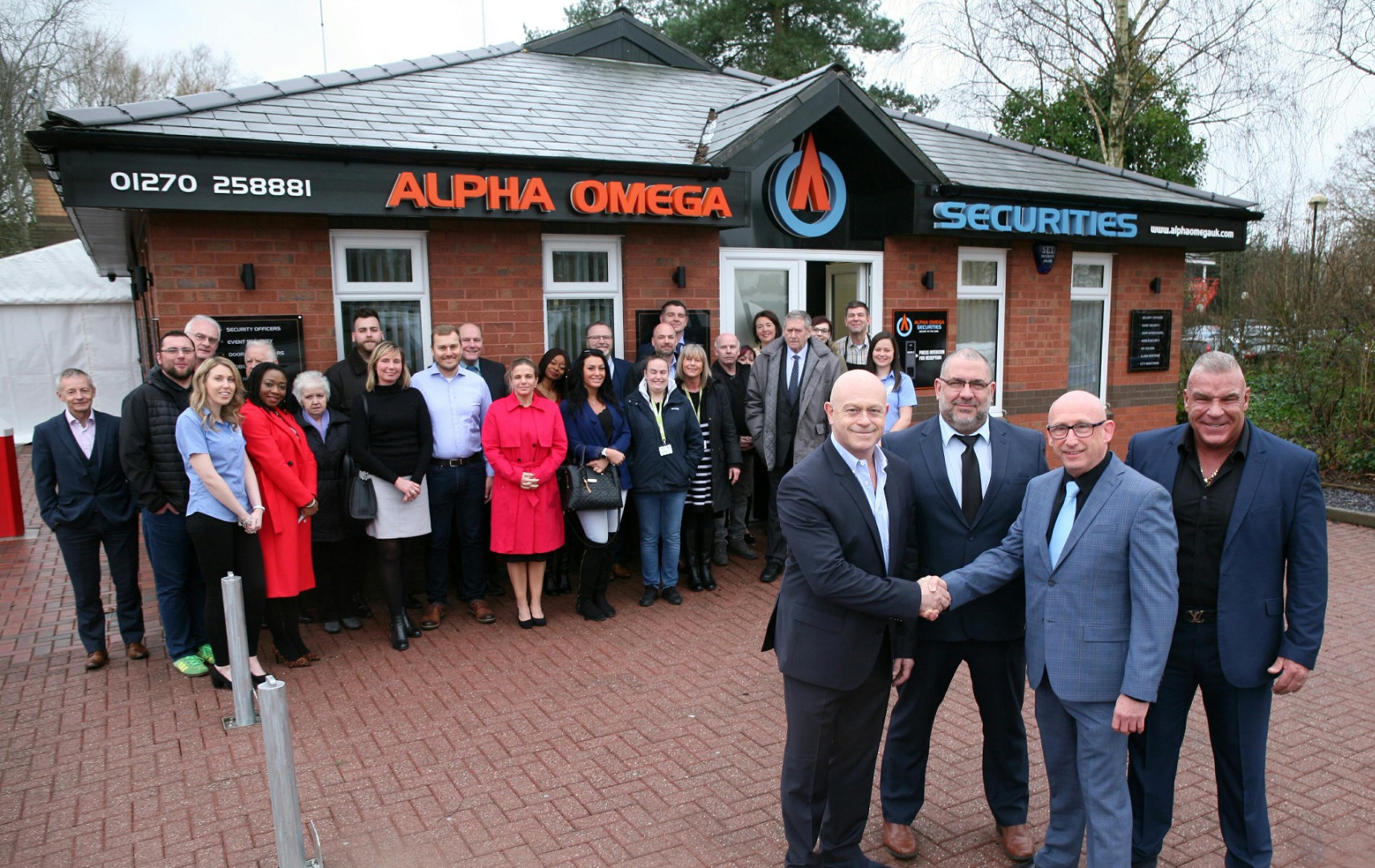 Celebrities help welcome security firm to Crewe Business Park