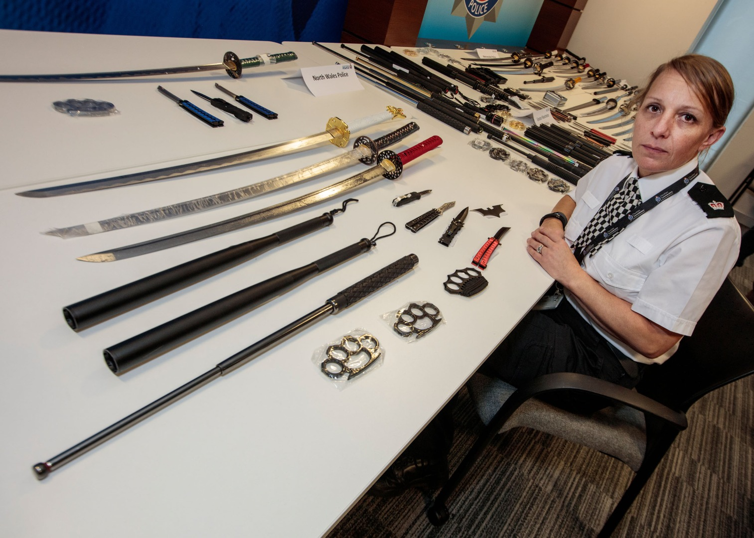 Police across the North West have seized a total of 180 weapons