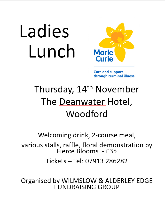 Marie Curie Ladies Lunch at The Deanwater Hotel