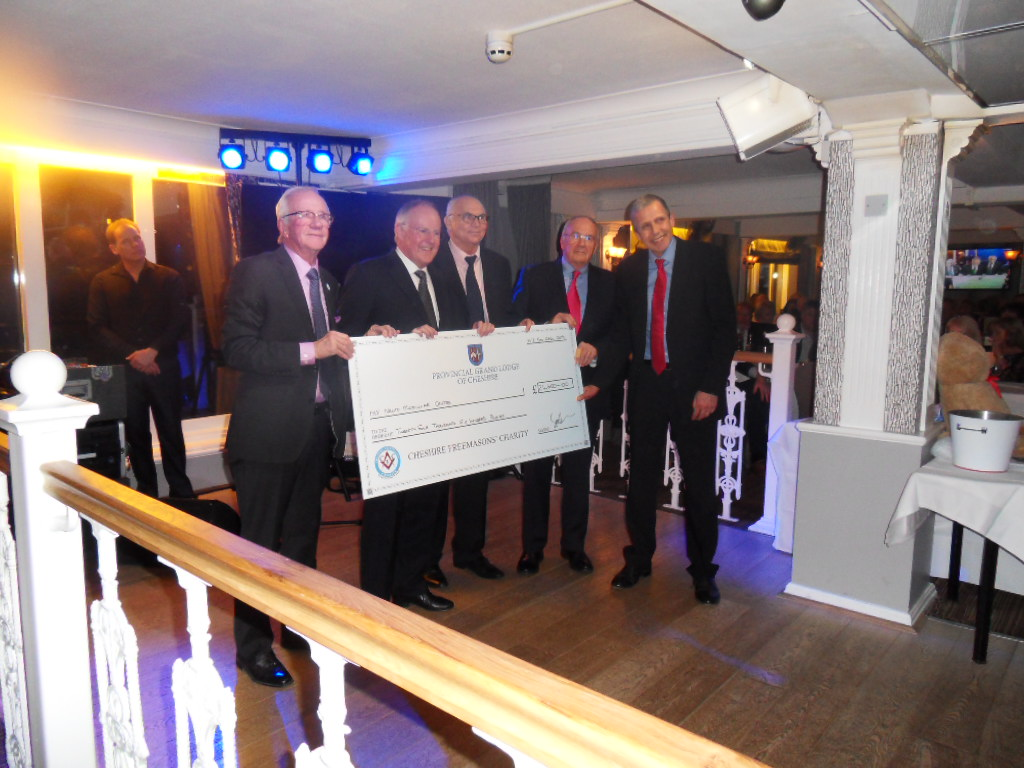 Cheshire Freemasons Give £25,000 to Neuro Muscular Centre