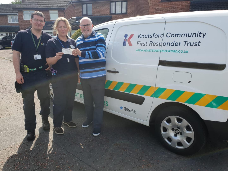 Local Freemasons help Knutsford Community Fire Responders