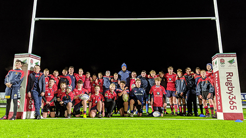 Sale Shark's captain surprises young players at Chester RUFC