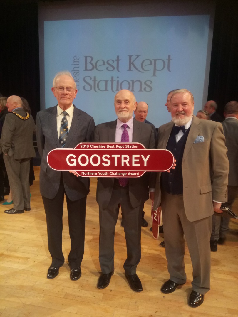 Volunteers at Goostrey Railway Station celebrate another success