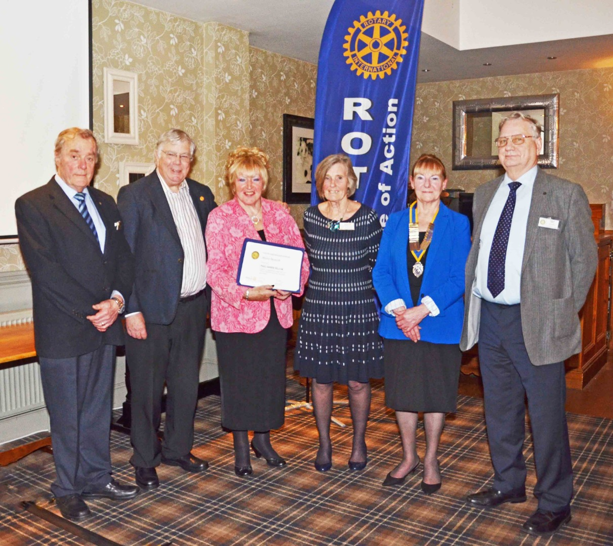 ROTARY AWARD FOR MOIRA BESWICK CHAIR OF THE ROSSENDALE TRUST